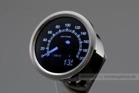 Daytona Velona ø60 Tachometer 200 kmh poliert