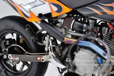 Daytona Hitzeschutzblech Stahl schwarz pulverbeschichtet gerade geschlossen