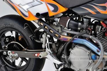 Daytona Hitzeschutzblech Stahl schwarz gerade offen