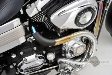 Daytona Hitzeschutzblech Stahl schwarz Bogen 45° geschlossen
