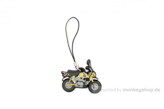 Honda Monkey Z50 FI Schlüsselanhänger Gummi gelb