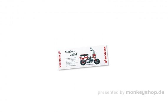 Honda Z50M Halstuch weiß