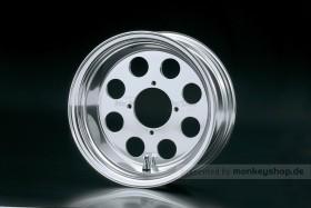 Daytona 4.50x10 8-Loch Felge Alu poliert