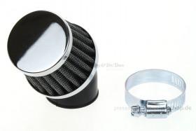 Luftfilter rund 45° gebogen 35mm