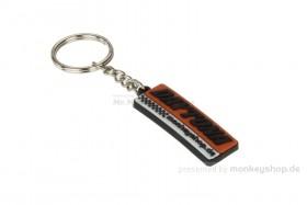 Schlüsselanhänger Daytona eckig Gummi Relief 19x48 mm