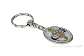 Schlüsselanhänger Takegawa oval Metall 35x45 mm