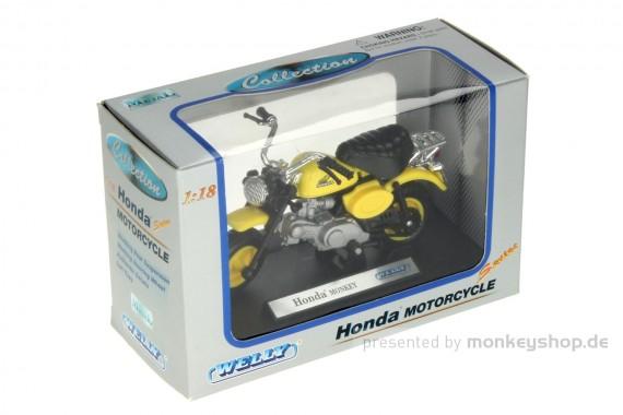 Welly Honda Monkey Modell 1:18 gelb