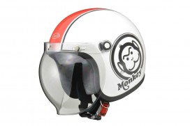 Honda Monkey Helm Weiß Rot Large