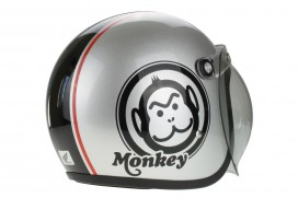 Honda Monkey Helm Silber Medium