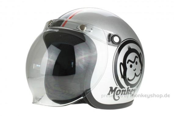 Honda Monkey Helm Silber Medium