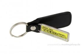 Schlüsselanhänger Takegawa Echtleder Metall 34x80 mm