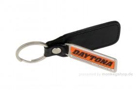 Schlüsselanhänger Daytona Echtleder Metall 34x80 mm