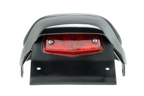Daytona Sitzbank Typ Flat Track glatt schwarz mit Rücklicht f. Monkey