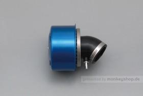 Daytona New Super Power Luftfilter blau 45° gebogen 35mm