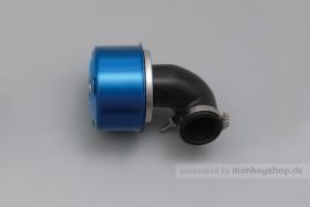 Daytona New Super Power Luftfilter blau 90° gebogen 35mm