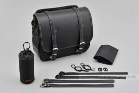 Henly Begins Satteltasche Leder Flat 12 Liter schwarz DHS-2