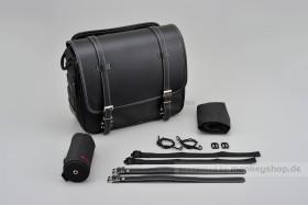 Henly Begins Satteltasche Leder Flat 18 Liter schwarz DHS-4