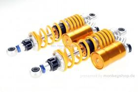 Gasdruck Stoßdämpfer Paar gelb einstellbar f. Monkey 125