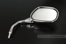 Takegawa rechter Seitenspiegel verchromt M10x1.25 Rechtsgewinde