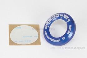 Takegawa Zündschlossring CNC Alu blau eloxiert f. Monkey 125