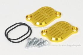 Takegawa Aluminium Ventildeckel gelb eloxiert f. Super Cub + Monkey 125 + MSX