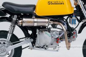 Daytona Outex Aluminium Auspuffanlage Monkey obenliegend