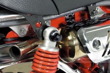 Takegawa Aluminium Hutmutter M10 Stoßdämpferaufnahme schwarz eloxiert Monkey Dax