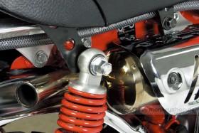 Takegawa Aluminium Hutmuttern Set M10 Stoßdämpferaufnahme silber eloxiert Monkey Dax