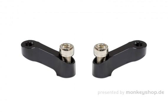 Spiegelverlängerungen Set Aluminium schwarz eloxiert M10 f. Monkey 125