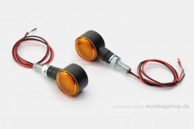 Daytona D-Light SOL LED-Blinker Paar (schwarz matt / orange)