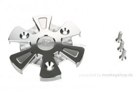 Schutz f. Kupplungsdeckel Alu CNC silber eloxiert f. MSX