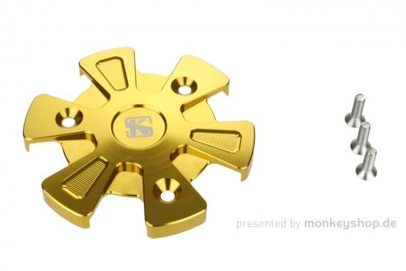Schutz f. Kupplungsdeckel Alu CNC gelb eloxiert MSX Monkey 125