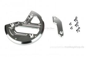 Schutz f. Zündungsdeckel Alu CNC silber eloxiert f. MSX