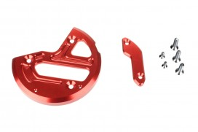 Schutz f. Zündungsdeckel Alu CNC rot eloxiert f. MSX