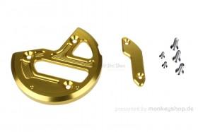Schutz f. Zündungsdeckel Alu CNC gelb eloxiert f. MSX
