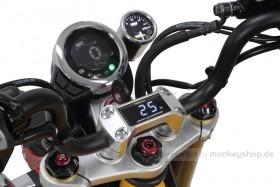 Takegawa Öltemperatur LED Anzeige in Lenkerhalter Alu silber eloxiert f. MSX Monkey 125