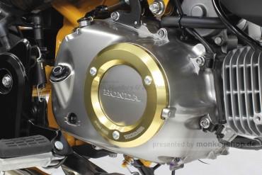 Takegawa Schutz f. Kupplungsdeckel Alu CNC gelb eloxiert Monkey Super Cub 125