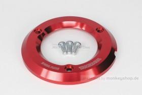 Takegawa Schutz f. Kupplungsdeckel Alu CNC rot eloxiert f. Monkey + Super Cub 125