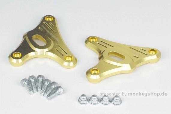 Takegawa Lampenhalterung Aluminium CNC gold eloxiert f. Monkey 125