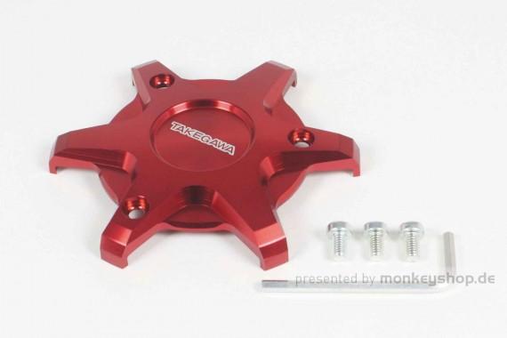 Takegawa Schutz f. Kupplungsdeckel Alu CNC rot eloxiert f. MSX + Monkey + Super Cub 125