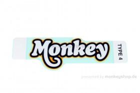"Honda Aufkleber ""Monkey"" 122x50 mm gelb f. Monkey 125"
