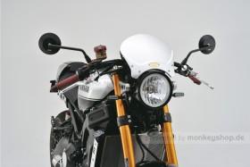 Daytona D-Mirror Aluminium Seitenspiegel schwarz links rund