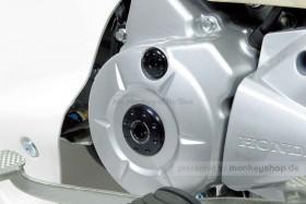 Takegawa Aluminium CNC Schrauben Set Zündungsdeckel silber eloxiert f. Super Cub + Monkey 125