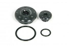 Takegawa Aluminium CNC Zündungsdeckel Schrauben Set schwarz eloxiert f. Super Cub + Monkey 125