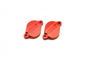 Aluminium Ventildeckel rot eloxiert f. Super Cub + Monkey 125 + MSX