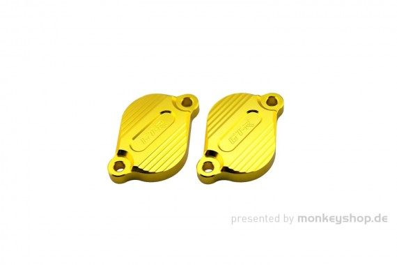 GTR Evolution Aluminium Ventildeckel gelb eloxiert f. Monkey 125 MSX
