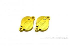 Aluminium Ventildeckel gelb eloxiert f. Super Cub + Monkey 125 + MSX