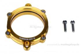 Aluminium Nockenwellendeckel mit Schauglas gelb eloxiert f. Super Cub + Monkey 125 + MSX