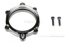 Aluminium Nockenwellendeckel mit Schauglas silber eloxiert f. Super Cub + Monkey 125 + MSX