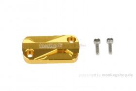 Cover Bremspumpe CNC Alu gelb eloxiert f. Monkey 125
